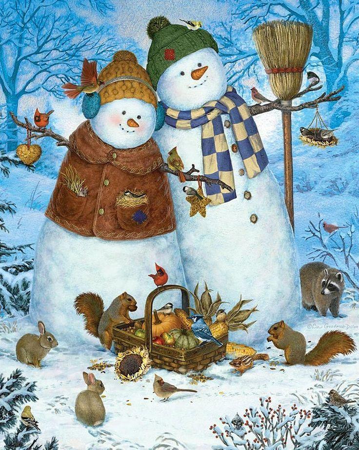 Зимние картинки на открытку