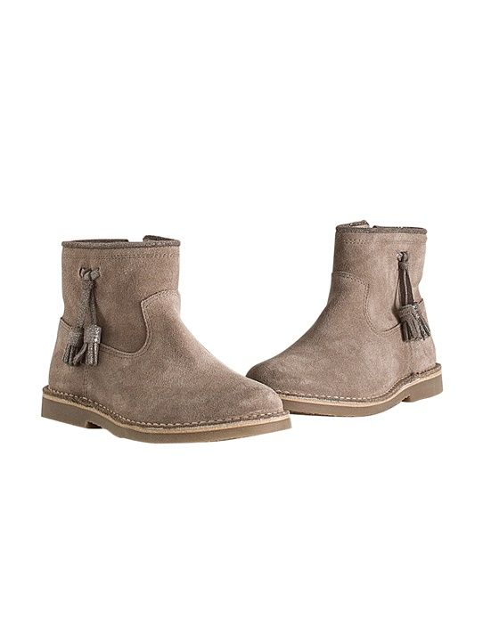 Boots irisées fille - Taupe - 4