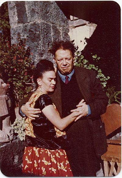 Frida Kahlo and Diego Rivera in Coyoacán, Mexico, 1948 Jan. 24 / Florence Arquin, photographer.