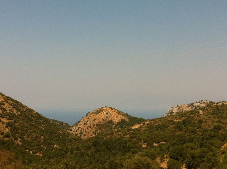 Nestled between the mountain tops of Corfu,  Old Perithia has stunning views...
