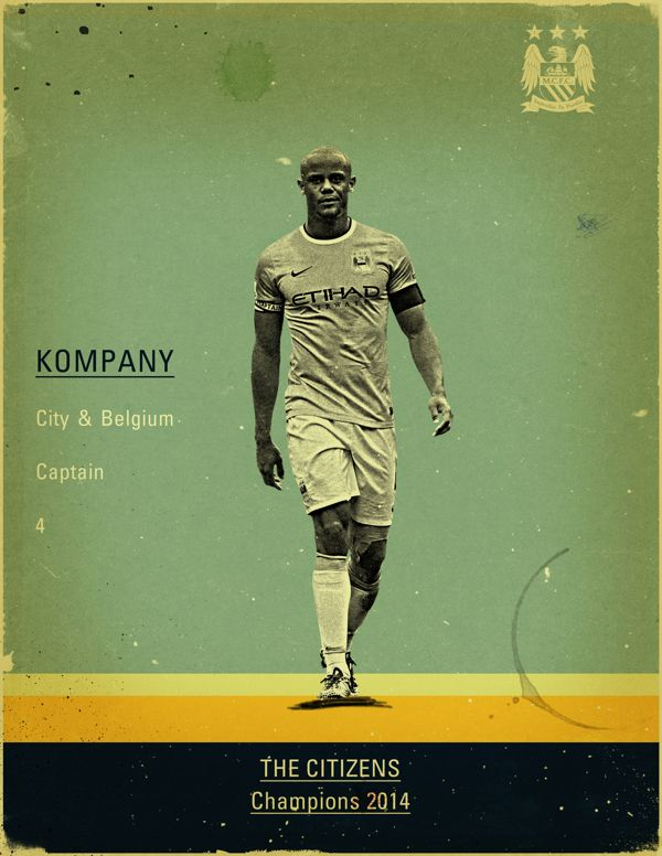 Manchester City - 2014 Champions by Jon Rogers, via Behance
