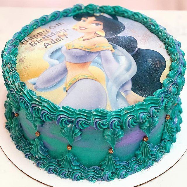 A Little Cake For A Little Princess Princessjasmine Buttercream