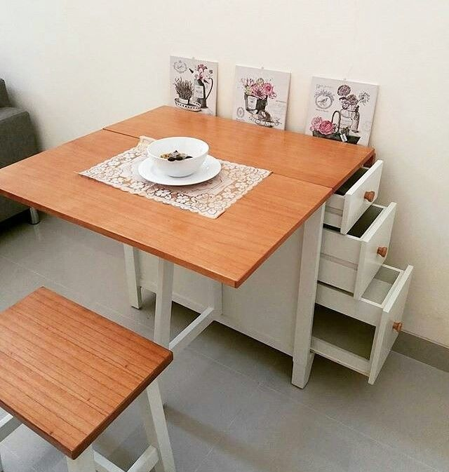 Meja Makan Lipat Ikea Meja Makan Desain Rumah Mungil Meja