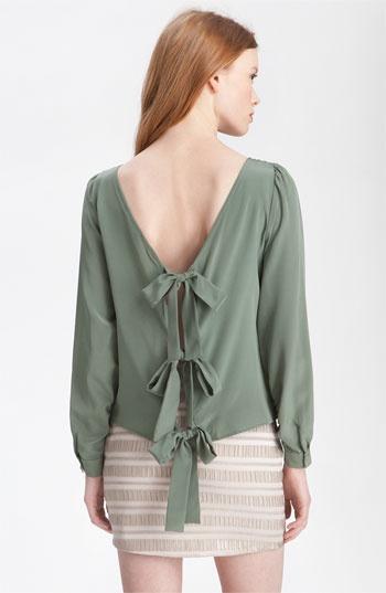 Paper Crown 'Jessamine' Tie Back Silk Top #bows