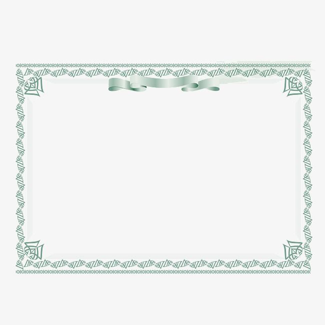 Certificate Border Design Png And Vector Certificate Border Border Design Clip Art