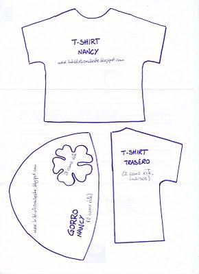 Patrón t-shirt y gorro Nancy                                                                                                                                                                                 Más