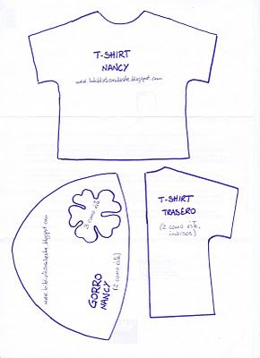 Patrón t-shirt y gorro Nancy