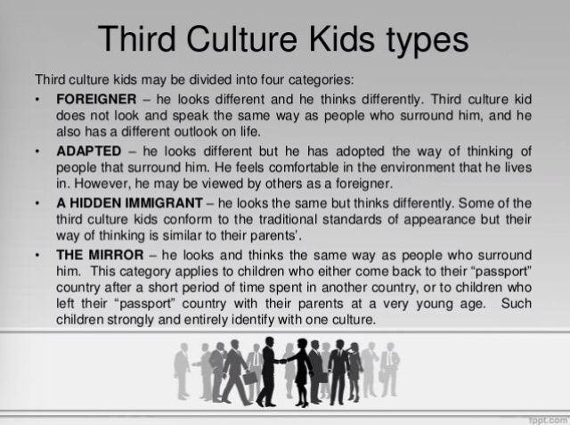 "copyright:  David Pollock and Ruth Van Reken - published in ""Third Culture Kids"""