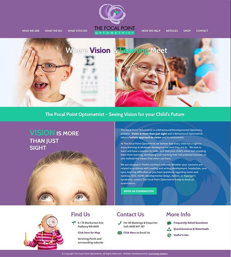 OUR PORTFOLIO Focal Point Optometrist -Technology Matters, Web designers, Melbourne.