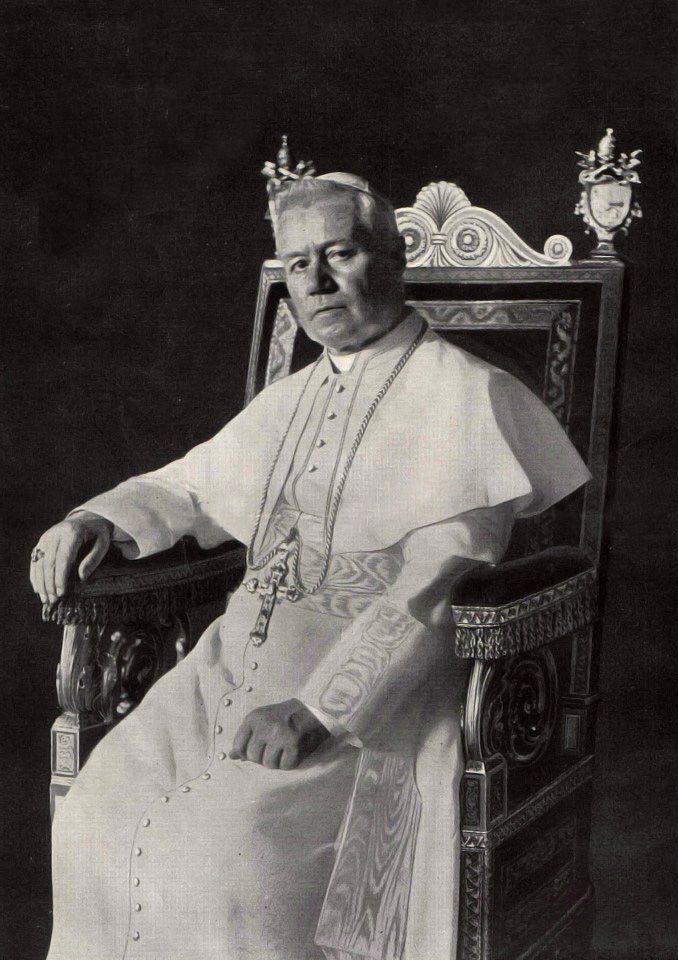 Giuseppe Melchiorre Sarto, Pope Pius X Riese (Austrian Empire) December 31 1837 Rome (Kingdom of Italy) August 20 1914 Pope from August 1903 to his death in 1914. Was canonized in 1954. Pius X is known for vigorously opposing modernist interpretations of Catholic doctrine, promoting traditional devotional practices and orthodox theology.