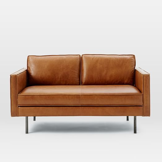 Is West Elm Furniture Good Quality: Axel Leather Loveseat