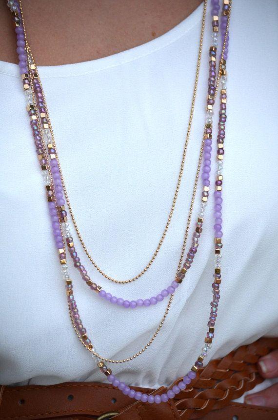 Della ragazza semplice Vai alla... questa collana set è un must avere. Ogni collana è circa 30 pollici di lunghezza, ha unestensione di 3 pollici e un catenaccio dellartiglio dellaragosta. Il corrispondenza orecchini di perline sono circa 1,4 a lungo