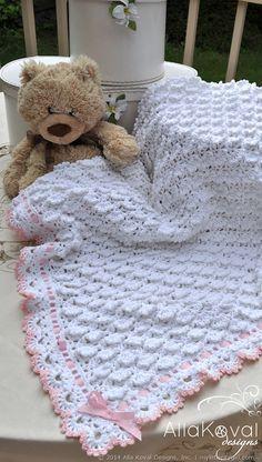Crochet! Magazine | Fluffy Clouds Blanket | My Little CityGirl