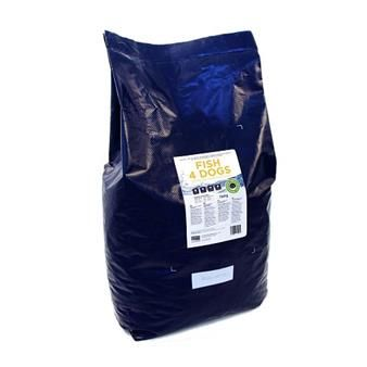 Fish Working Dog 15Kg Protein from white fish is very easily digested making our Finest Ocean White Fish particularly suitable for dogs with a delicate digestion or older dogs with slower digestive systems.   Fish also contains high levels of Omega 3, which aids with coat and skin health and joint mobility.  Fish4Dogs foods are grain free and use potato and pea as the carbohydrate providing a food that has a balanced GI and one that is less likely to cause dietary sensitivity.   Fish4Dogs