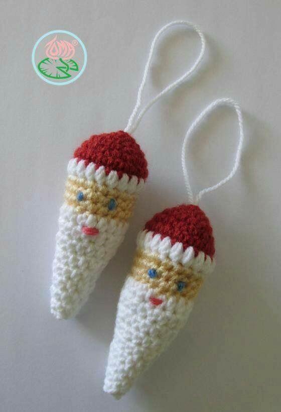 Free Pattern: Amigurumi Santa Claus Ornament