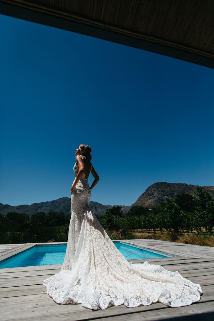 Stunning!!! http://flyawaybride.com/an-irish-wedding-in-franschhoek-south-africa/ Photography: Kikitography / Florist: Leipzig Reception venue: La Petite Dauphine /  Bridal gown: Inbal Dror.