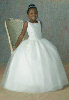 Bata de pelota Strapless piso-longitud de organza de raso vestidos de niña