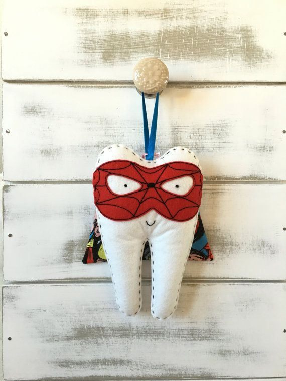 Personalized Boys Superhero Tooth Fairy Pillow , choose your design