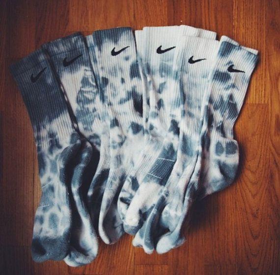 Nike Tie Dye Dri Fit Socks by Socque on Etsy, £5.00