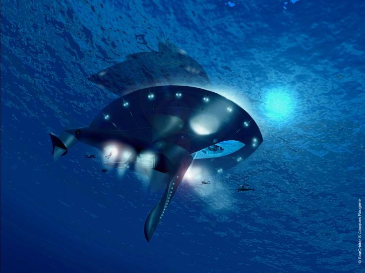 SeaOrbiter - Underwater View