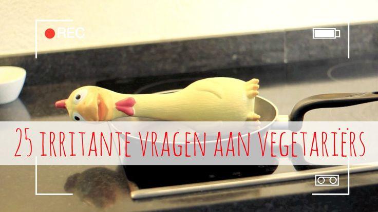 Als vegetariër heb je 't niet altijd makkelijk. Overal waar je komt stellen mensen dezelfde vragen: Onze nieuwste video! 25 irritante vragen aan vegetariërs