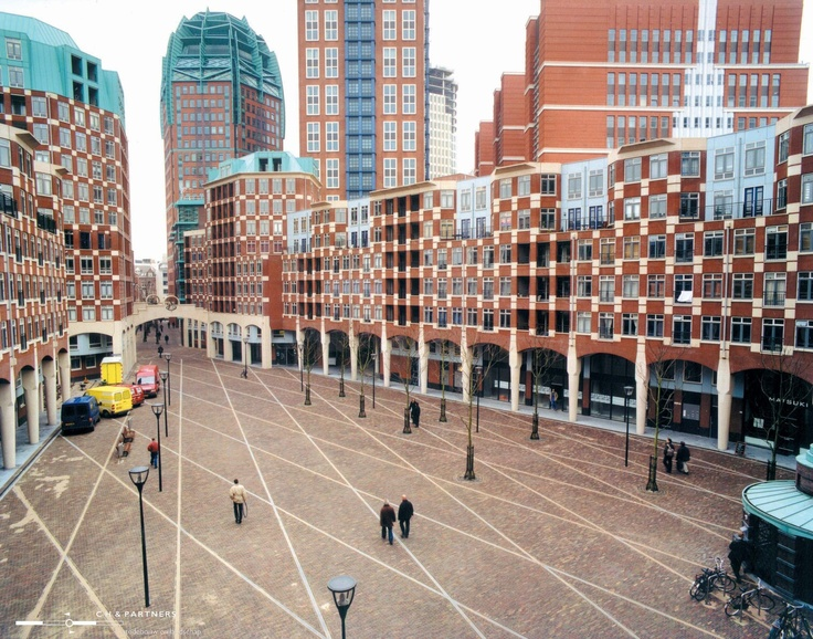 The new area in Den Haag ( The Hague), south Holland ,where you can find offices,shops and apartments.