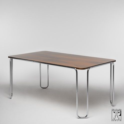 Tubular steel dining table in the style of the Bauhaus-Modernism