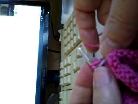 apprendre à tricoter,faire un col en V