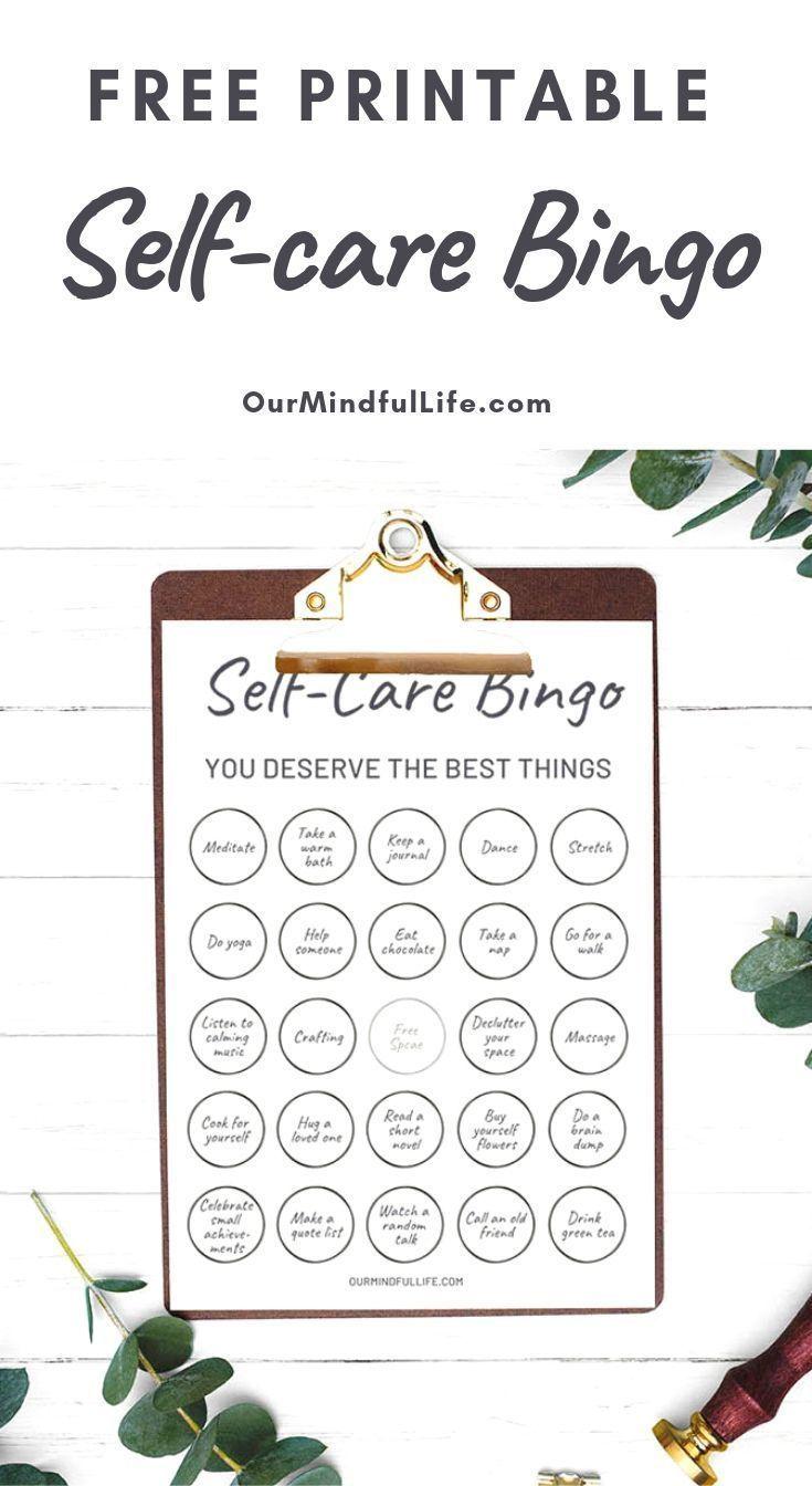 A Free Printable Bingo Game To Make Your Self-care Routine Fun Again