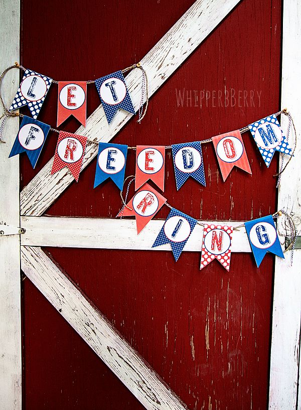 "I'm in love with this ""Let Freedom Ring Banner"" from @Heather Creswell Creswell // Whipperberry"