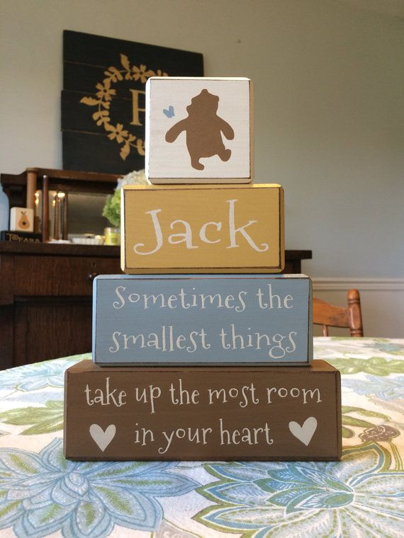 Best 25 personalized baby ideas on pinterest etsy handmade classic winnie the pooh disney stacking wood blocks baby gift personalized baby gift centerpiece baby shower negle Images