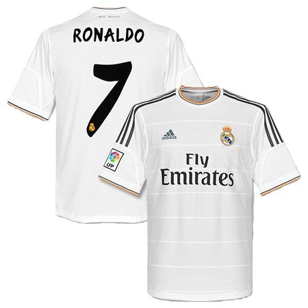 Cristiano Ronaldo Real Madrid Home Jersey Shirt Uniform kit 2013 14 - Adidas  and Fly Emirates sponsorship  1c4f193bd885