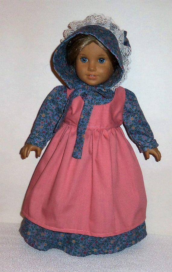 Floral Prairie Kleid 18-Zoll-Puppe Sunbonnet von entirelyhomemade