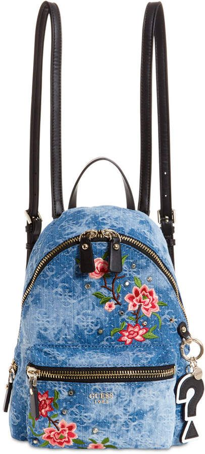 fc7ca2f0457 Guess Cool School Denim Small Backpack #ad   →bags   Backpacks ...