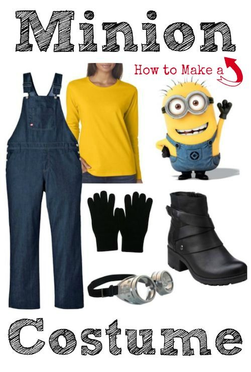 Only a few items (some you probably already have) are needed to make this DIY Minion Costume for Grown-Ups! Kids can wear it too! Happy Halloween!