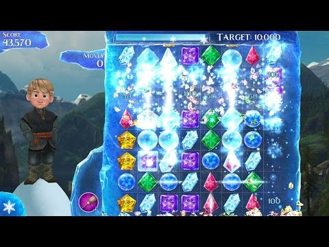 Frozen Free Fall Disney Match 3 Video Game Gameplay Fun Kids Video Little Wishes Video Games - YouTube