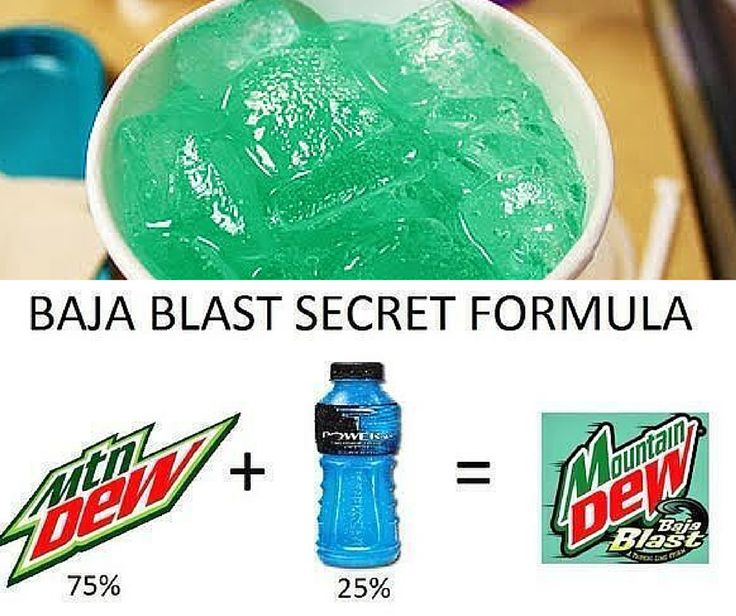 Obsessed with Mountain Dew Baja Blast? Make it yourself!