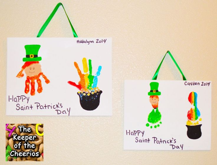 The Keeper of the Cheerios: St Patrick's Day Footprints