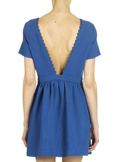 robe d collet dos bleu by suncoo ompelu pinterest. Black Bedroom Furniture Sets. Home Design Ideas