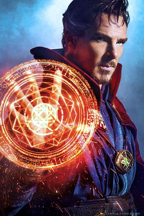 """This Week's Cover: Benedict Cumberbatch casts a spell as Doctor Strange in EW's First Look issue (x) "":"