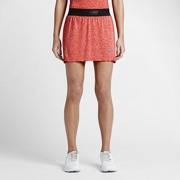 Nike Women's Golf Skort The Nike Converge Seamless Women's Golf Skort helps keep you comfortable and moving freely on the course with stretch Dri-FIT fabric. Built-in compression shorts provide comfort, coverage and a locked-in feel during your round.  Light Crimson $100.00
