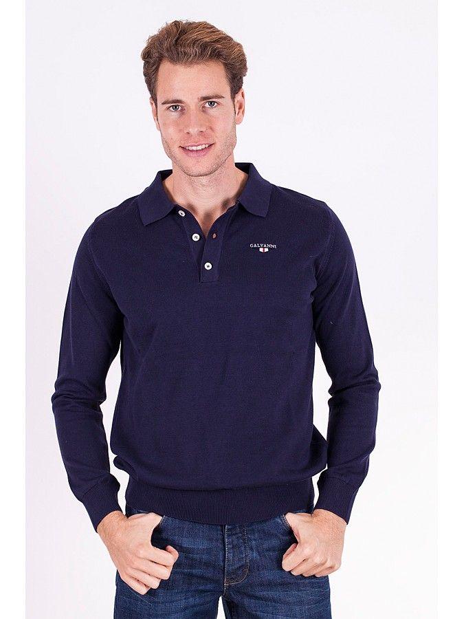 Męska koszulka polo z długim rękawem 229 PLN  #sale #limango #polo #man #fashion #navy
