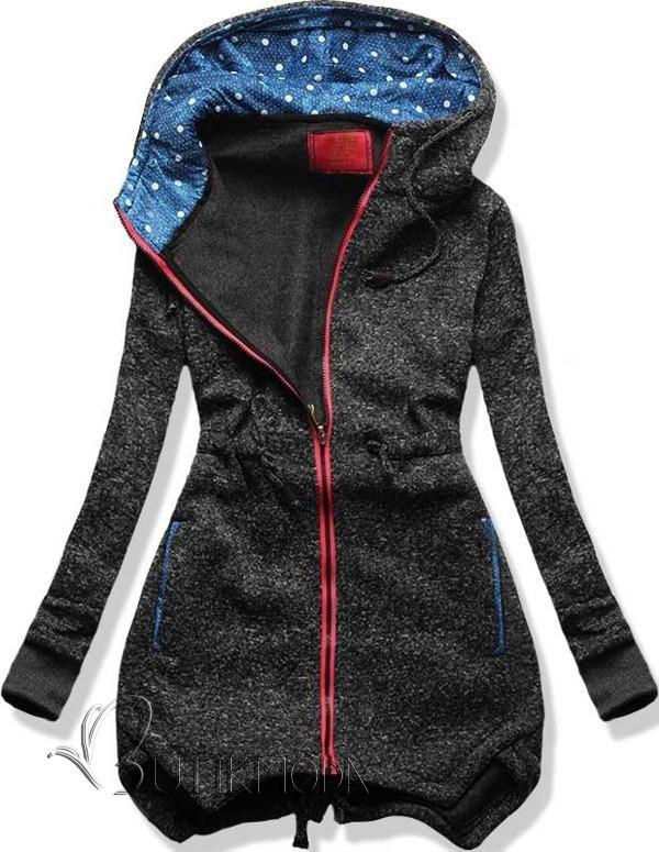 Sweatjacke grafit D239 - Damenbekleidung