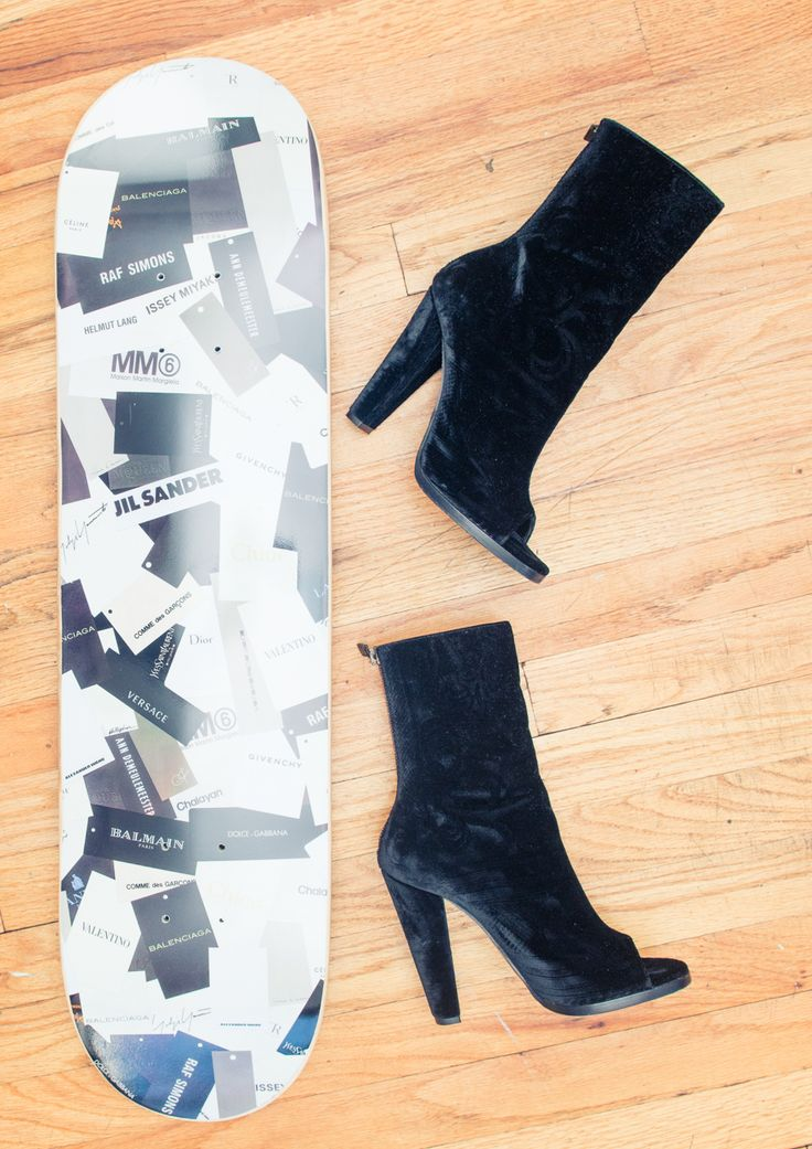 A few of our favorite things: Balmain booties and decks. http://www.thecoveteur.com/aleali-may/Balmain Booty, Decks, Aleali