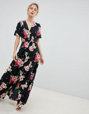 dd6f280fc7 Shop ASOS DESIGN maxi tea dress in floral print at ASOS. Discover fashion  online.