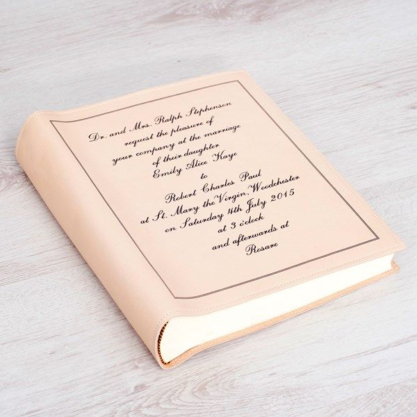 Mother of the bride gift ideas: personalised photo album