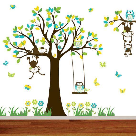 Custom Listing Nursery Wall Tree Decal Nursery by wallartdesign, $175.00