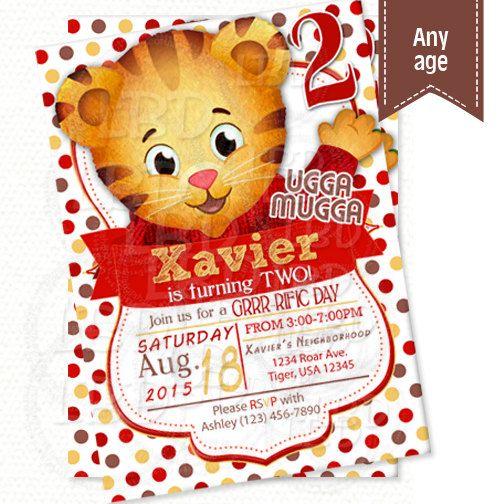Daniel Tiger Invitation Daniel Tiger Birthday by lovebuggydesigns
