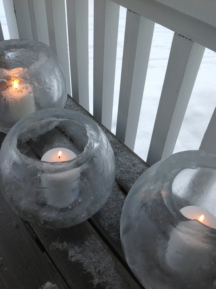My candles made of ice!