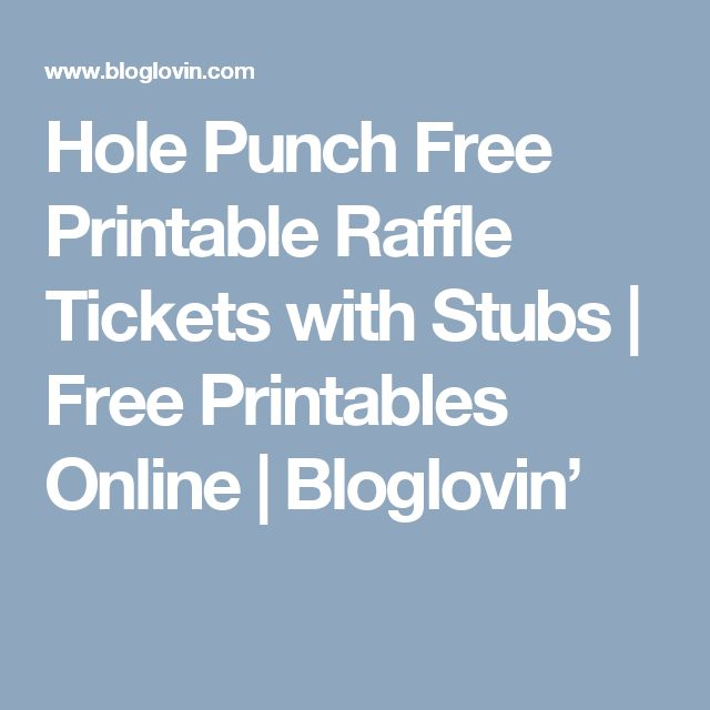 raffle tickets online free